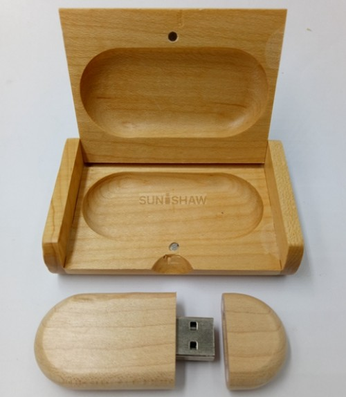 SD-006 Eco-friendly wooden usb memory with customized logo for company promotion