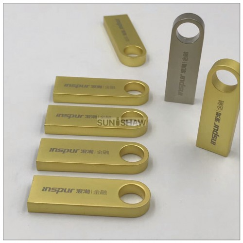 SM-006 personalised silver and golden aluminium mini thumb usb with real capacity