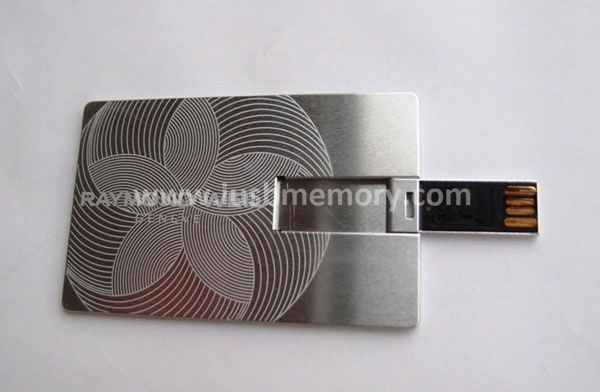 SC-009 metal card usb memory with laser pattern