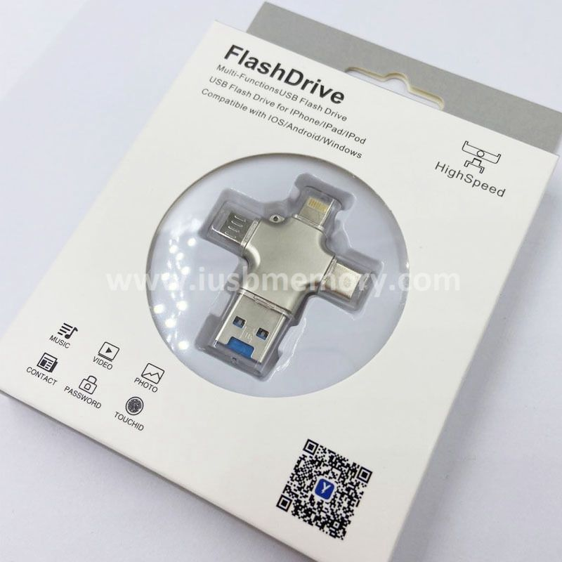 SO-005 4 in 1 OTG USB memory for Iphone and type  C