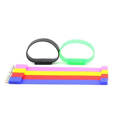 SW-004 Best wristband usb memory with multi-color choices