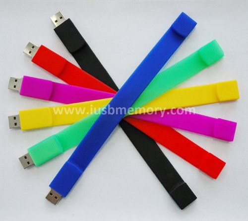 SW-008 rubber bracelet usb flash drive with personalized logo for promotion campaign