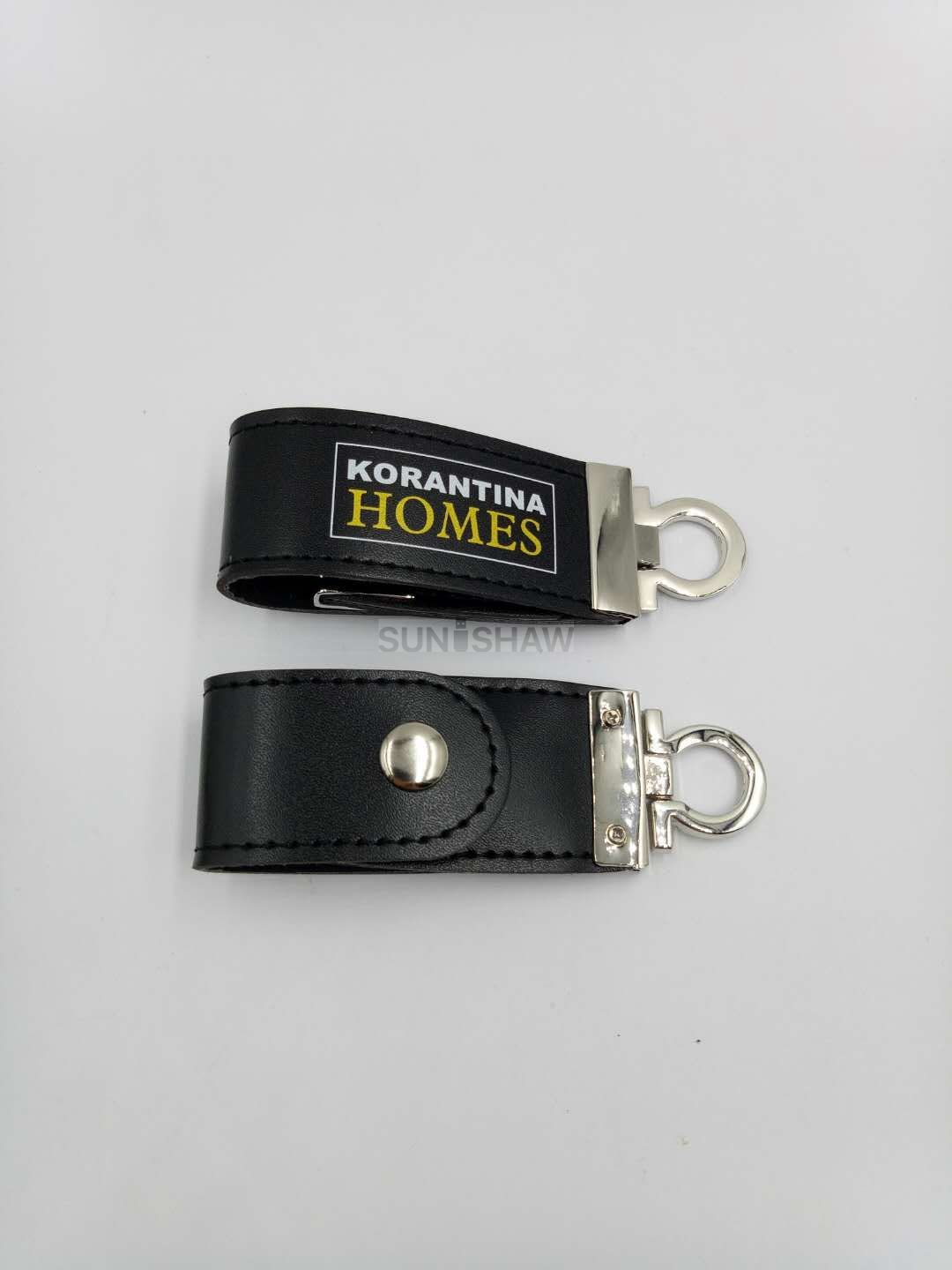 SL-003 Black PU leather usb memory with whole sale price as company gift