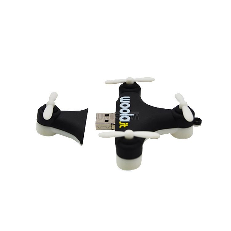 SV-014 Cute drone shaped pvc memory with customized logo