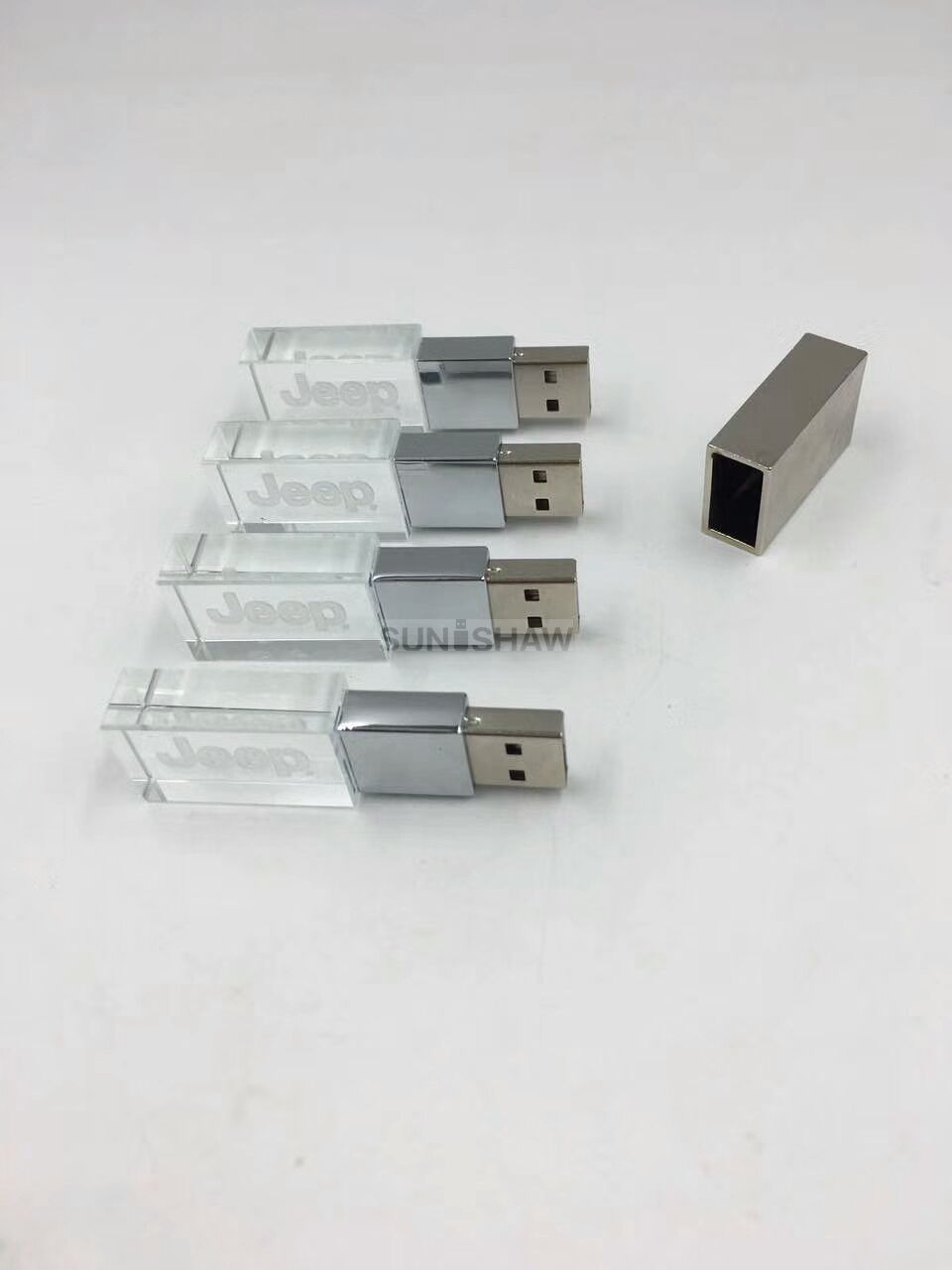 SR-004 Customized crystal usb flash drive with inside laser logo