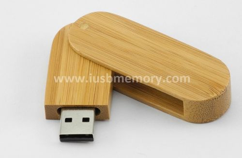 SD-014 swivel bamboo usb flash drive