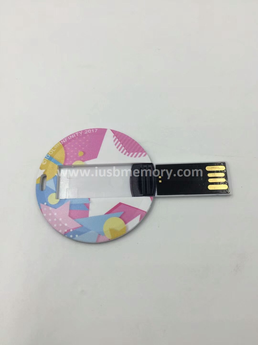 SC-010 round plastic card usb with customized picture