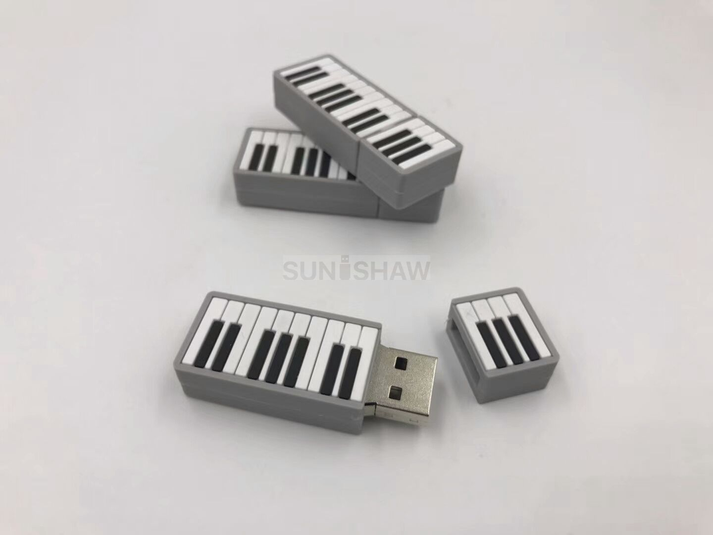 SV-001 Piano shaped pvc usb memory as promotional gift