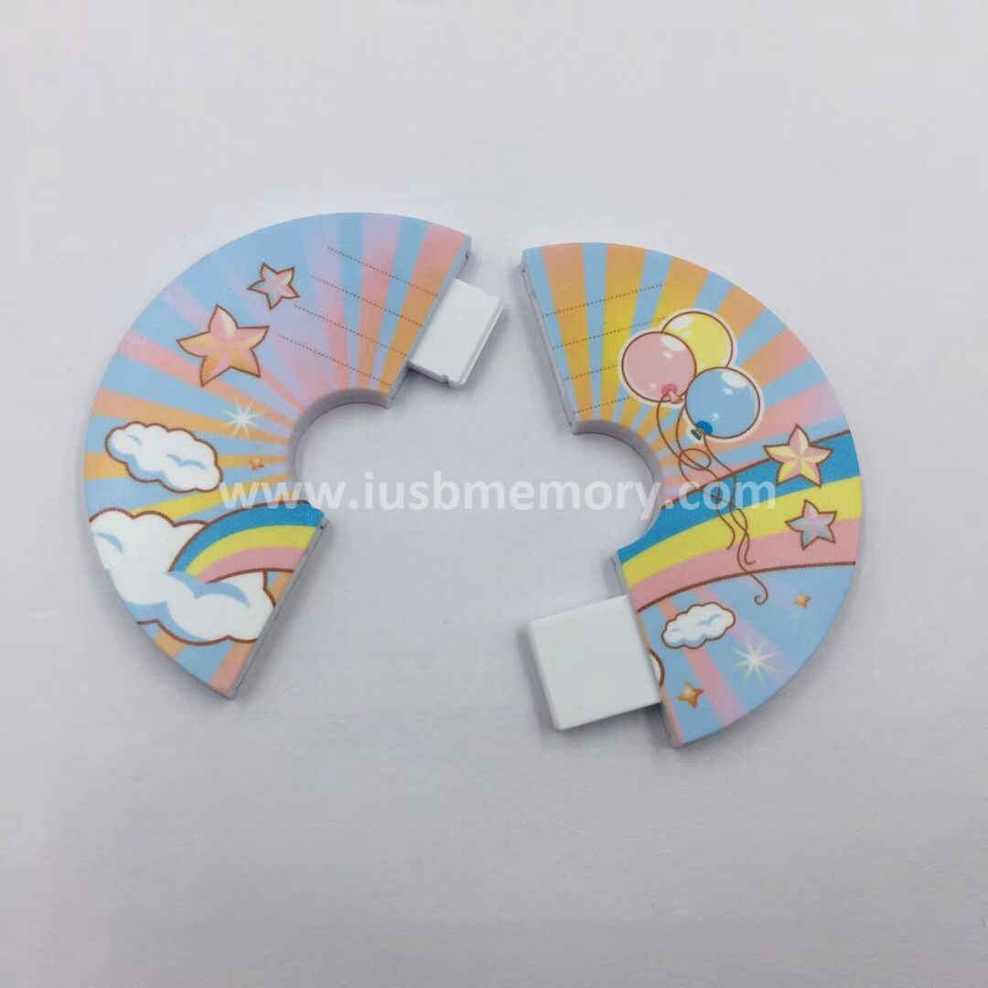 SC-012 promotional round plastic usb memory