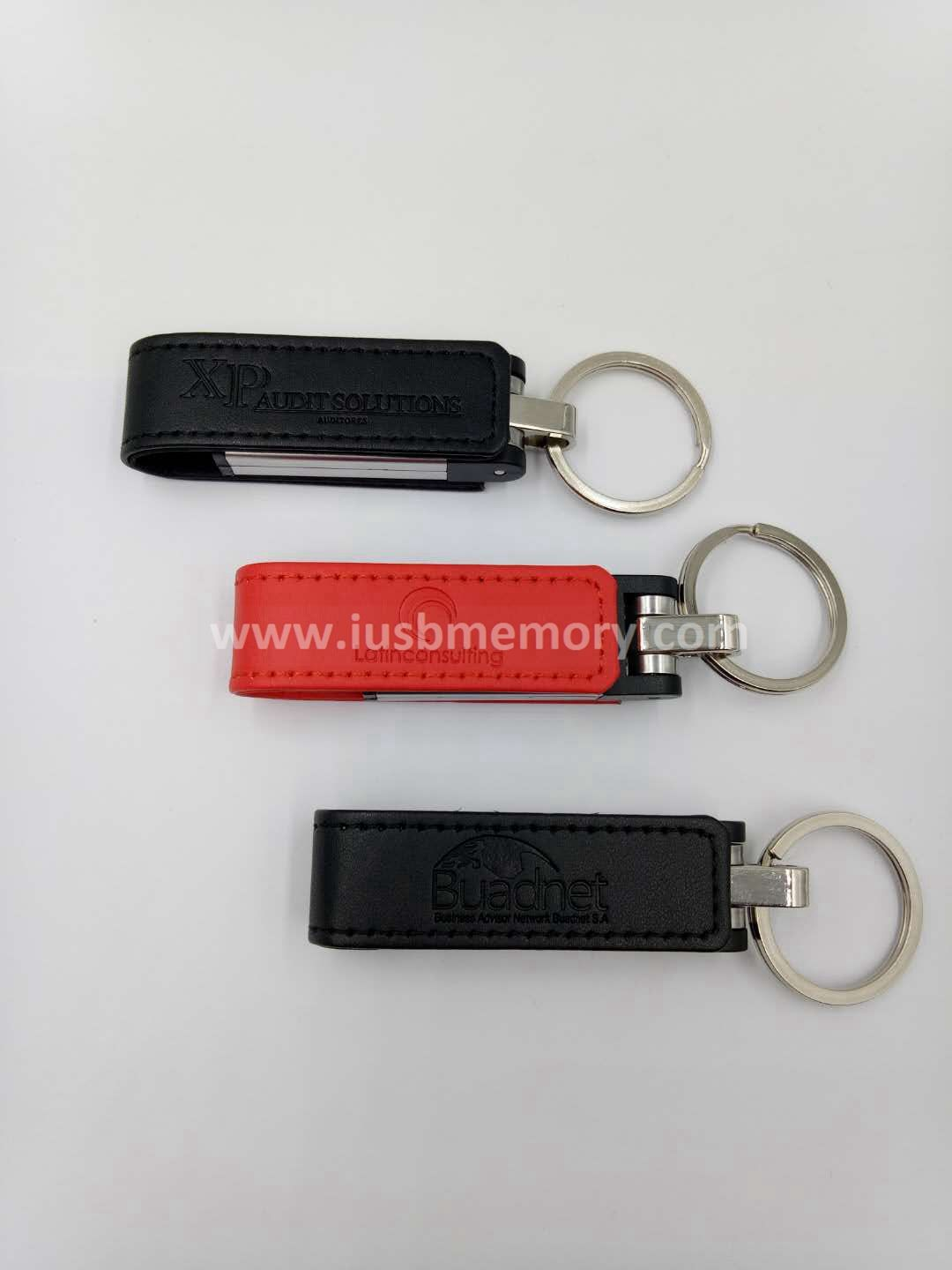 SL-005 personalized red PU leather usb memory