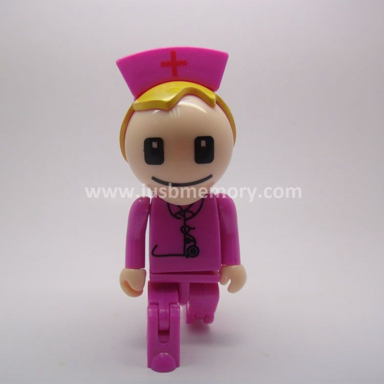 SP-009 promotional nurse shaped plastic usb memory