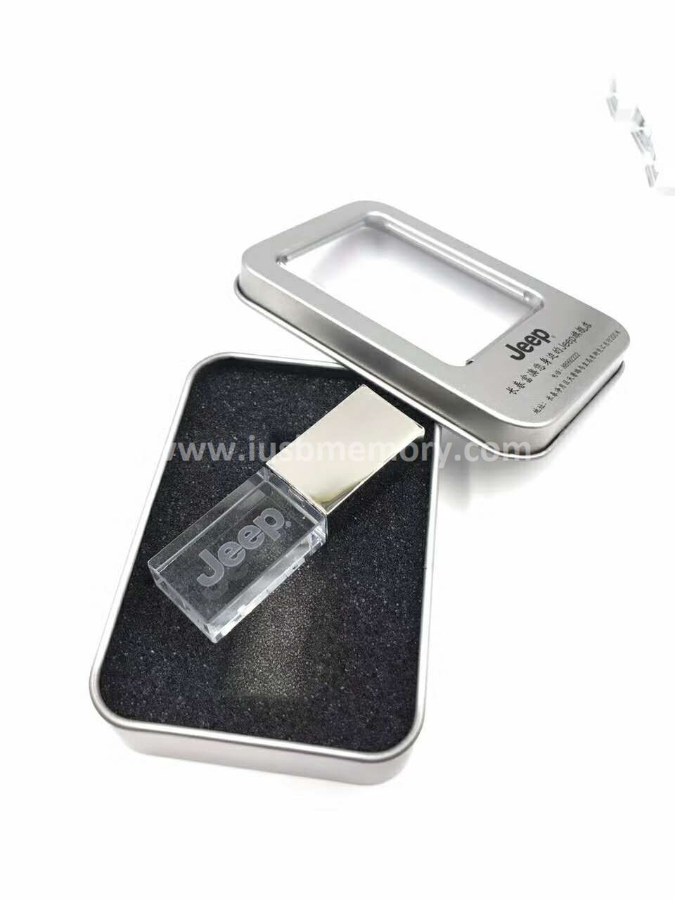 SR-008 crystal usb memory with LED light