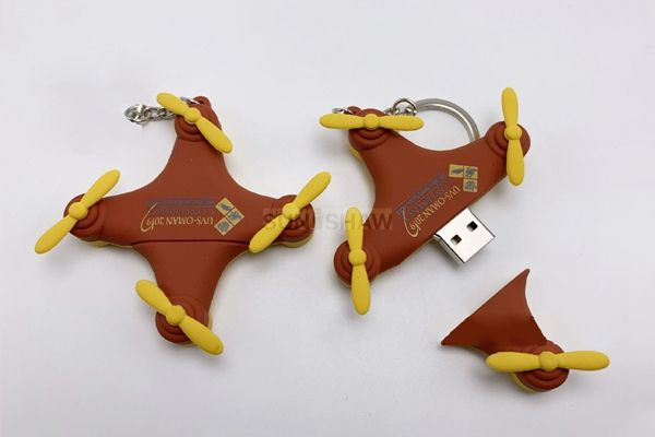 SV-010 Creative drone shaped pvc usb flash drive from China